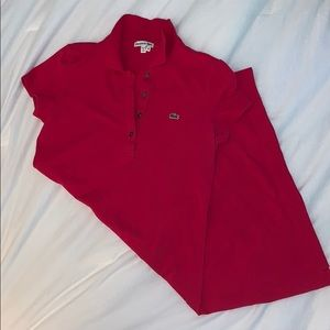 Lacoste collared golf dress